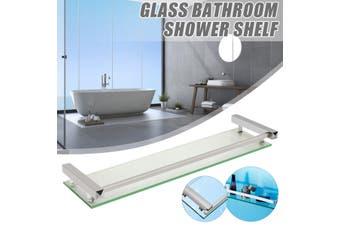 Bathroom Shelving Bath Glass Rack Shower Caddy Shelf Holder Wall Mounted(60 cm)