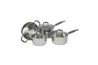 4pc Davis & Waddell Essentials Argon Cookware Saucepan/Steamer Set w/ Glass Lids