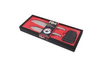 Furi Pro East/West Santoku Knife and Diamond Fingers Sharpener Set 3 Piece