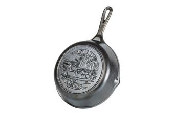 Lodge 8 inch / 20cm Duck Wildlife Stamped Cast Iron Skillet | Made in USA