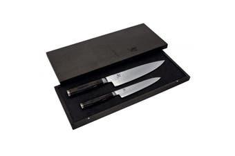 Shun Premier 2 Piece Knife Set   20cm Chef + 16.5cm Utility Knife