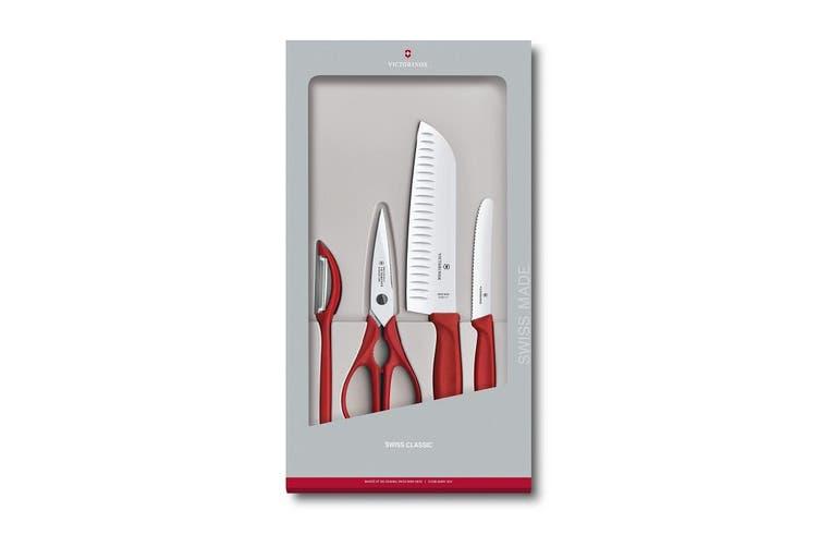 Victorinox Swiss Classic Kitchen Set, 4 pieces - RED| 6.7131.4G