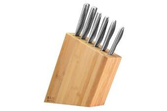 Global 7 pcs Kyoto Knife Block Set - Bamboo