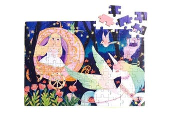 Kids 100 Pieces Puzzle Jigsaw Early Learning Preschool Girl Princess Unicorn Toy