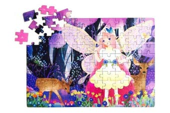 Kids 100 Pieces Puzzle Paper Early Learning Preschool Girls Butterfly Fairy Toys