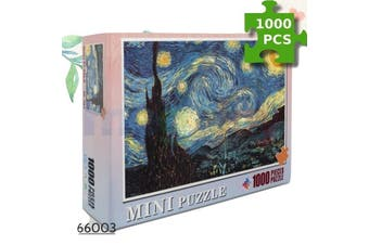 Jigsaw Puzzles 1000 Starry Night Educational Games Adult for Kids Home Decor Toy
