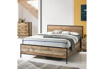 Mascot Queen Bed Oak Color