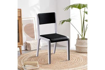 2X Baily Dining Chair Black & White