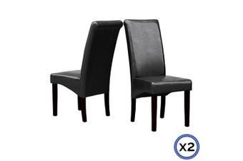 2 X Swiss Dining Chair-Black