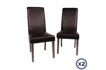 2 X Swiss Dining Chair-Brown