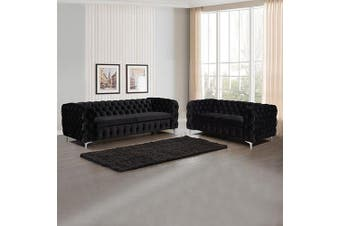 Jacques 3+2 Seater Black Colour