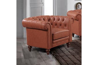 Madeline 1 Seater Brown