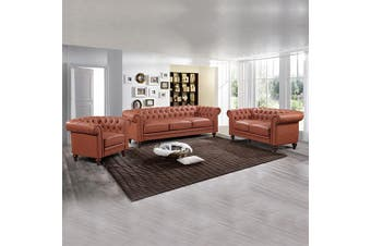 Madeline 3+2+1 Seater Brown
