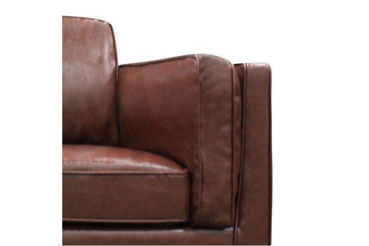 York Sofa 3 Seater Brown PU