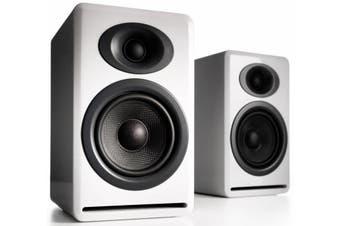 Audioengine P4 Passive Bookshelf Speakers (Pair) High-Gloss White