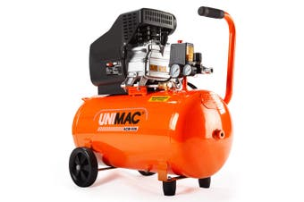 UNIMAC Air Compressor 50L 3.5HP Electric Portable Inflator Direct Tank Pump Oil