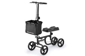 EQUIPMED Knee Scooter Walker Folding Mobility Alternative to Crutches Wheelchair