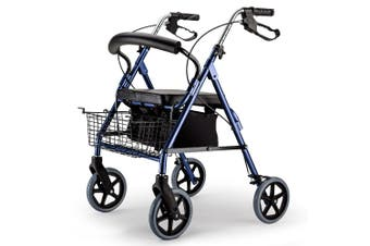 EQUIPMED Rollator Walker Walking Frame Wheels Mobility Elderly Seat 4 Seniors