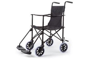 EQUIPMED Folding Transport Wheelchair Lightweight Seat Companion Rollabout