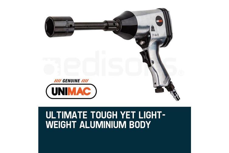 UNIMAC Air Impact Wrench Kit 17pc 1/2 Inch Rattle Gun Set Socket Pneumatic Metric
