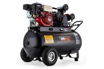 UNIMAC Industrial Air Compressor 120L Receiver Petrol Driven Tri-V Piston