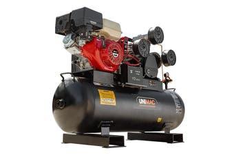 UNIMAC Industrial Air Compressor 150L Receiver Petrol Driven Tri-V Piston