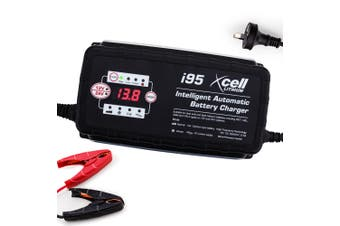 X-CELL 9-Stage Smart Battery Charger 12V/24V 25A Automatic Maintainer Car Bike