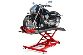 T-REX Motorcycle Lift Table Compressed Air Bike Stand Jack Hoist Motorbike