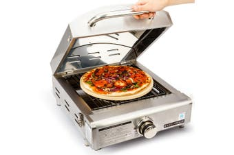 EuroGrille Portable Pizza Oven BBQ Camping LPG Gas Stainless Steel Grill