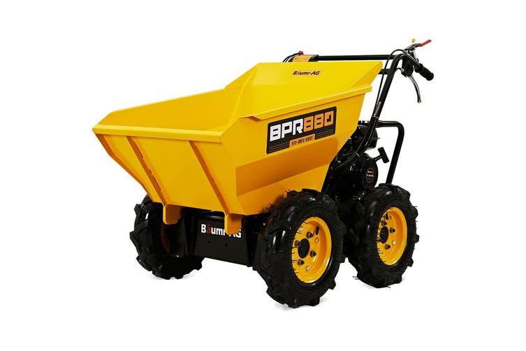 Baumr-AG Power Wheelbarrow Motorized Mini Petrol Powered Wheel Barrow Self Dump