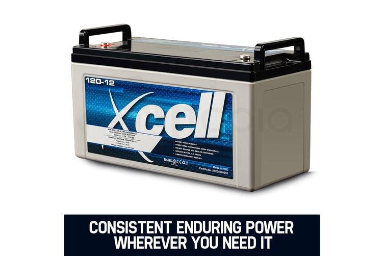 X-CELL AGM Deep Cycle Battery 12V 120Ah Portable Sealed SLA Camping Solar Marine