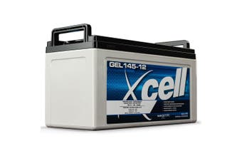 X-CELL GEL Battery 12V 145Ah Portable Sealed SLA Camping Solar Marine