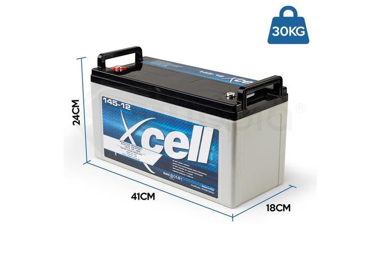 X-CELL AGM Deep Cycle Battery 12V 145Ah Portable Sealed SLA Camping Solar Marine