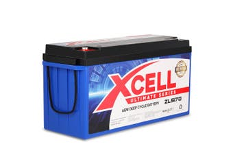 X-Cell 170Ah AGM Battery Deep Cycle 12v Marine Solar Camping Volt Glass 4WD SLA