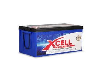 X-Cell 230Ah AGM Battery Deep Cycle 12v Marine Solar Camping Volt Glass 4WD SLA