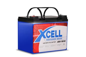 X-Cell 50Ah AGM Battery Deep Cycle 12v Mobility Scooter Golf Cart Camping Volt