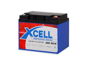 X-Cell 60Ah Performer Series AGM Deep Cycle Battery 12v for Mobility Scooter, Golf Cart and Camping