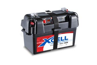 X-CELL Deep Cycle Battery Box Marine Storage Case Boat 12v Camper Camping Power