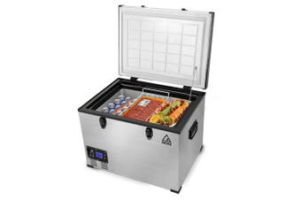 GECKO 70L Portable Fridge Freezer Cooler Camping 12V/24V/240V for Caravan Car
