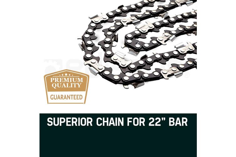 2 x 22 Inch Baumr-AG Chainsaw Chain Bar Replacement 0.325 Inch 0.058 Inch 84DL