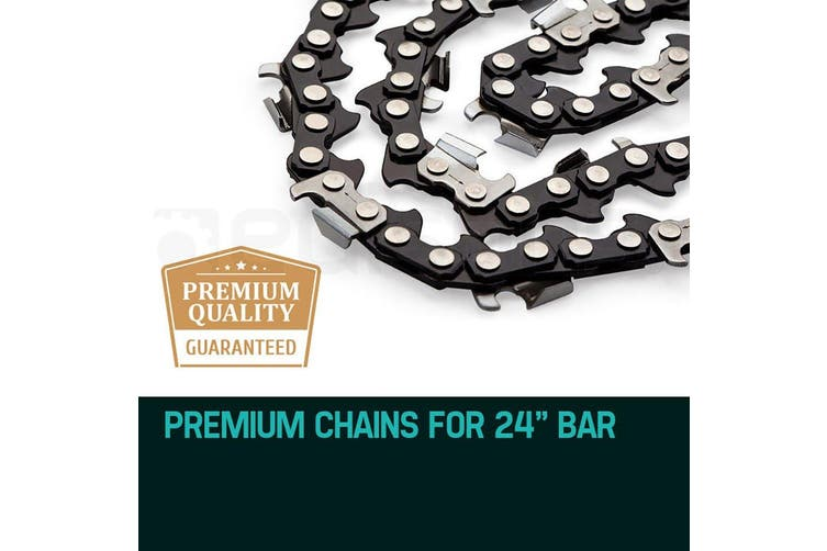 2 X 24 Inch Baumr-AG Chainsaw Chain 24in Bar Replacement Suits 72CC 76CC 82CC Saws