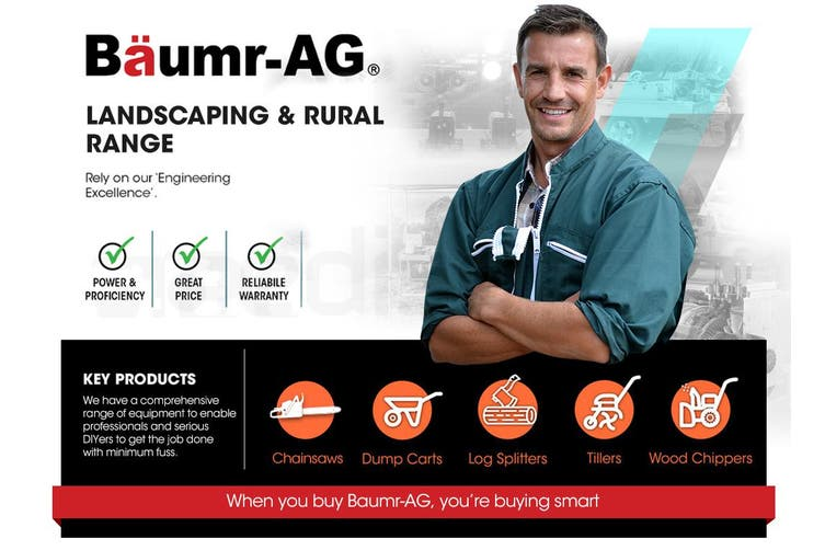 Baumr-AG 52CC Petrol Commercial Chainsaw 20 Inch Bar E-Start Chain Saw