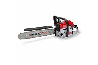 Baumr-AG 62CC Petrol Commercial Chainsaw 20 Inch Bar E-Start Pruning Chain Saw