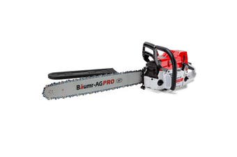 Baumr-AG 82CC Commercial Petrol Chainsaw E-Start 24 Inch Chain Saw Tree Pruning