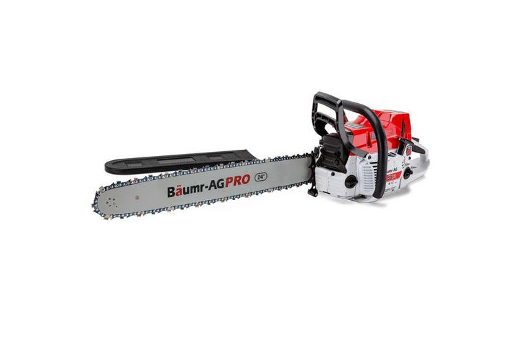 BAUMR-AG Commercial Petrol Chainsaw E-Start 24 Chain Saw Top Handle Tree Pruning
