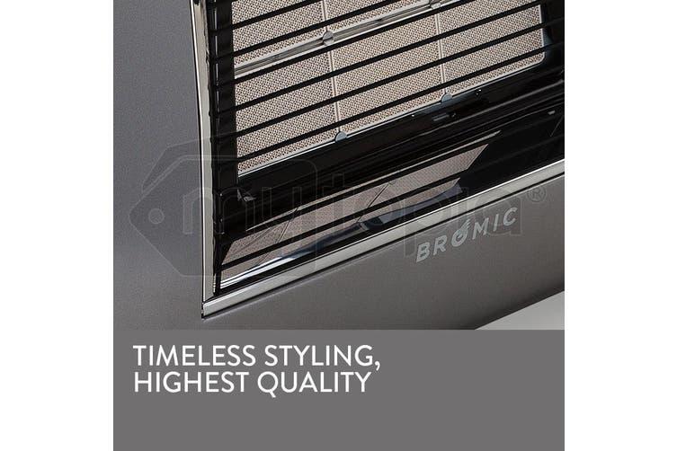 BROMIC Supaheat II LPG Indoor Gas Heater Room Floor Portable Flueless Radiant