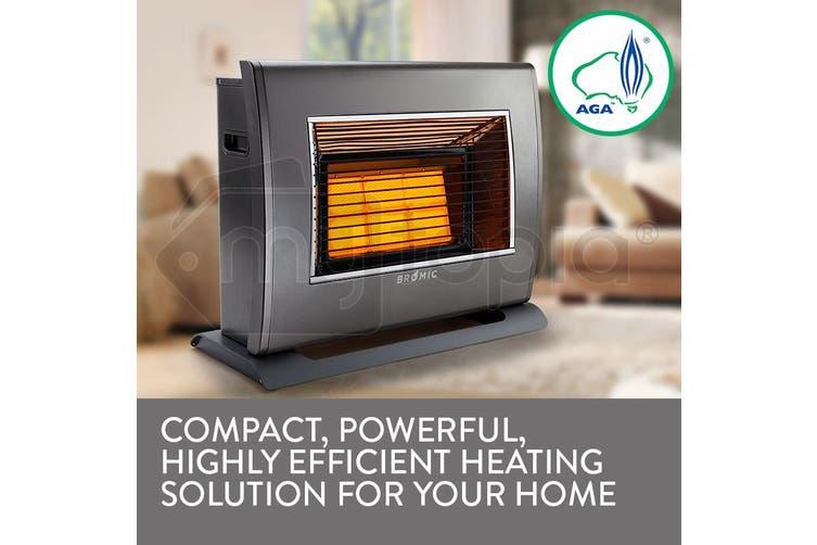 BROMIC Supaheat II Natural Gas Indoor Room Heater Portable Floor Flueless