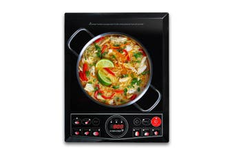 EuroChef Electric Induction Cooktop Portable Kitchen Cooker Ceramic Cook Top