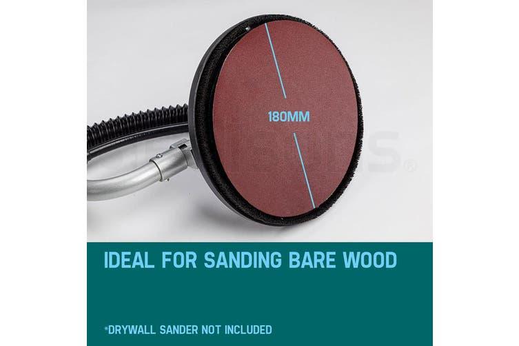 UNIMAC 12x180 Grit Sanding Discs 180mm - Hook & Loop Plaster Drywall Sander