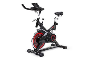 PROFLEX Commercial Spin Bike Flywheel Exercise Home Workout Gym - Red